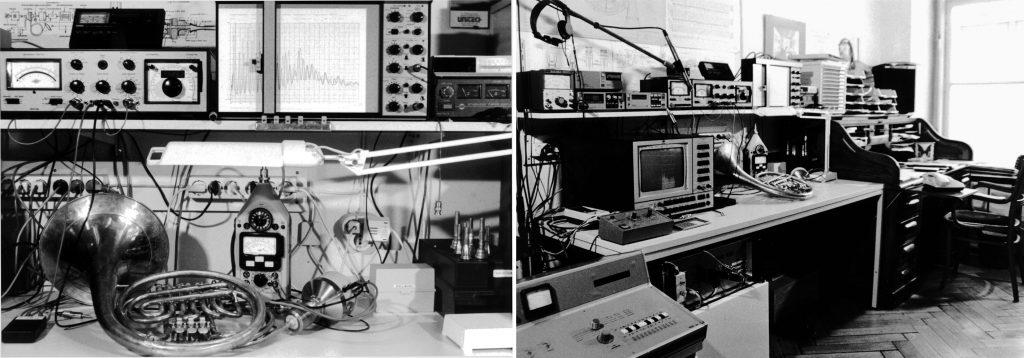 Impedanz-Messaufbau auf analoger Basis vom FWF finanziert Gesamtansicht meines ersten Institutsraumes
